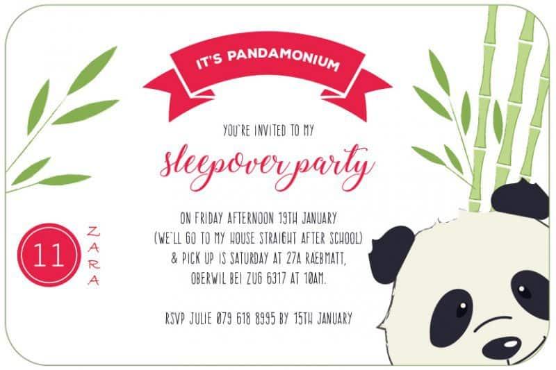 DIY: Panda Party Invitation