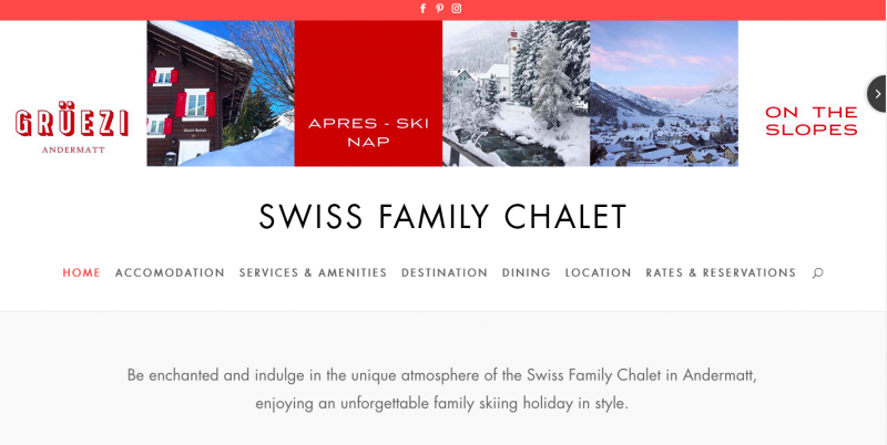 News – Swiss Family Chalet Website Update